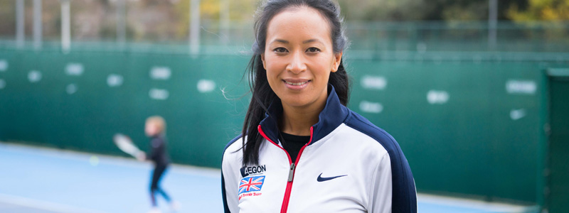 Anne Keothavong at the Fed Cup